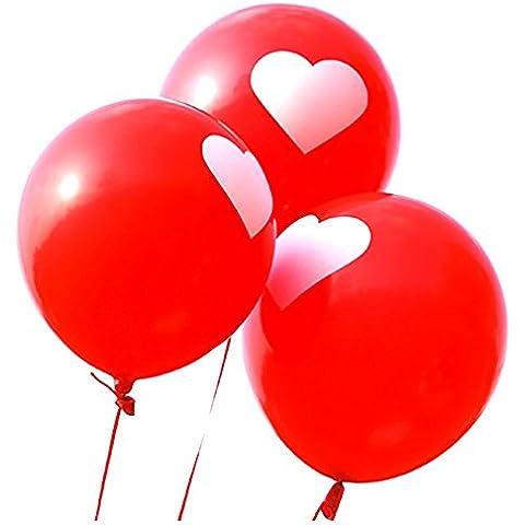 Time4Deals® 100 piezas de 12 pulgadas del globo para la decoración de boda fiesta feliz (Rojo)
