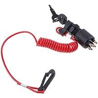 Sharplace Interruptor de Encendido con Cordón de Seguridad para vinrude/Johnson / Brp