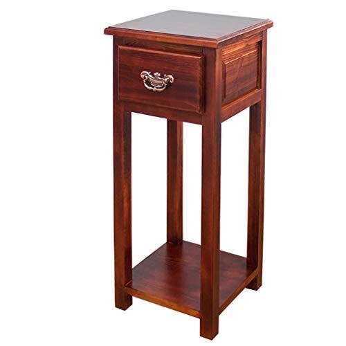 G-ZWJXX Telefon Tisch Beistelltisch Beistelltisch Mit Schublade Konsolentisch HolzstäNder 76 cm Hoch Flower Table Nachttisch | Schlafzimmer > Nachttische | G-ZWJXX