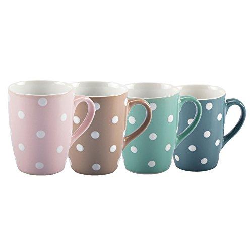 DOTS Geschirrserie Kaffegeschirr Tafel-Service Becher Tasse Teller Müslischale - NEU (Kaffeebecher, 6er-Set (MINT)) (Tafel-becher)