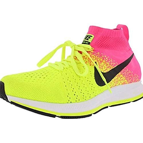 Nike Herren Zm Peg All Out Flyknit OC GS Laufschuhe, Amarillo (Volt/Black-Pink Blast), 39 EU