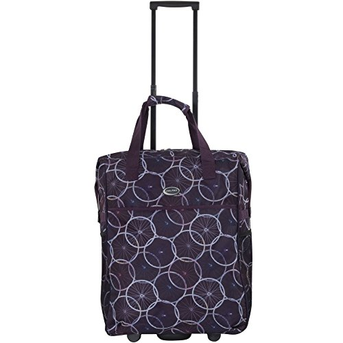 calpak-big-eazy-bright-check-20-inch-rolling-shopping-tote-bagpurple-wheelsone-size
