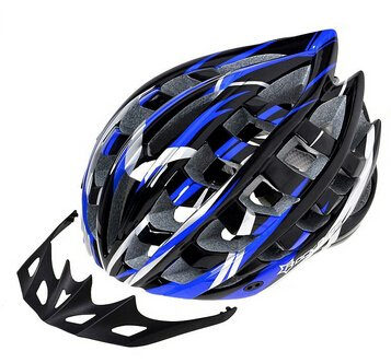 rowzy (TM) Unisex ultraleggero In-Mold 36traspirante Vento Vents Blu sportiva da strada mtb bicicletta visiera LED helmetb, Blue
