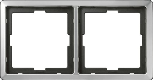 Preisvergleich Produktbild Merten 481246 ARTEC-Rahmen, 2fach, Edelstahl