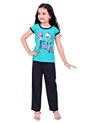 Be 13 Blue Cotton Girls Night Suit