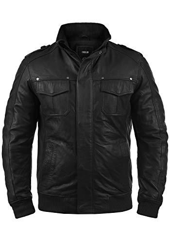 !Solid Camash - Chaqueta de Cuero para Hombre, tamaño:XL, Color:Black (S9000)