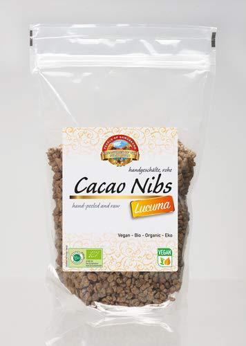 Semillas de Cacao crudas endulzada con Lucuma Bio 600 gr granos habas granillas de cacao criollo ecológicas 100% naturales organic Cacao Nibs