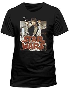 Tee Shack Star Wars Han Solo Harrison Ford Colour Oficial Camiseta Para Hombre