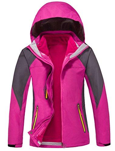 MatchLife Unisex Couple WindProof Jacket Mountain Hiking Sports Hoodie Mantel Pink-Damen