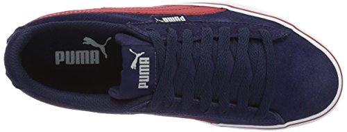 Puma Puma 1948 Vulc Jr Unisex-Kinder Low-Top Blau (peacoat-barbados cherry 08)