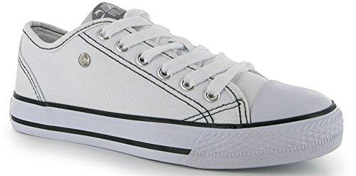Dunlop, Senhoras Da Sapatilha Um Tamanho Branco / Branco