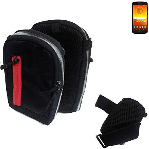 K-S-Trade Outdoor Gürteltasche Umhängetasche für Motorola Moto E5 Dual SIM schwarz Handytasche Case travelbag Schutzhülle Handyhülle