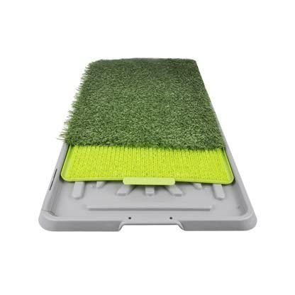 The Original Potty Patch–Artificial Grass Litter Tray For Dogs, Toilet Training Mat For Puppies, Replaces Absorbent Cloths - Odour Control Anti-bacterial –Perfect For Puppies Going To The Toilet In The House, the For Dogs up to 7kg–Large 70x 44x 5cm 2