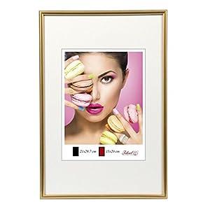 Photo Style Bilderrahmen in 20x30 cm bis 50x70 cm DIN Format Bilder Foto Rahmen: Farbe: Gold | Format: 50x70