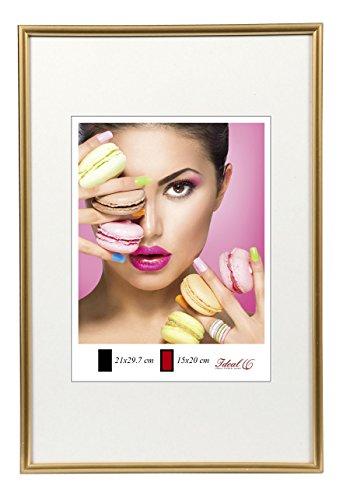 Gold Frame (Photo Style Bilderrahmen in 20x30 cm bis 50x70 cm DIN Format Bilder Foto Rahmen: Farbe: Gold | Format: 50x70)