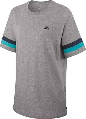 Nike Herren M Nk Sb Tee Sleeve Stripe Hemd, grau (DK Grey Heather), L - Sleeve Grey Stripe Shirt