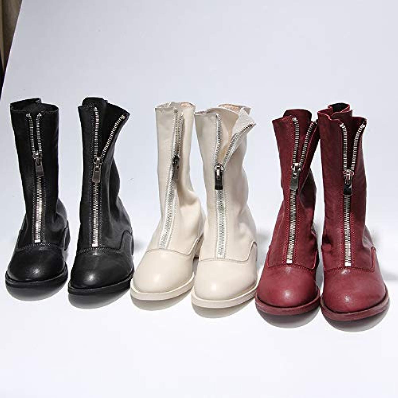 HOESCZS Wouomo scarpe Flat stivali Wouomo Spring And Autumn New New New Martin stivali Inverdeed stivali in The Tube Wild Ankle... | Abbiamo ricevuto lodi dai nostri clienti.  5ac2e2