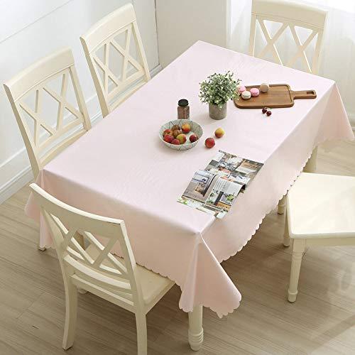 Tischdecke Haushalt Wasserdicht Und Ölbeständig Pvc-Tischdecke Einweg-Verbrühschutz Tischdecke Kaffeetischdecke Hellrosa Rund 120Cm