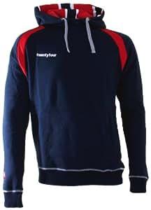 Twentyfour Norge Sweat à capuche pour homme aux couleurs de la Norvège Bleu marine xs