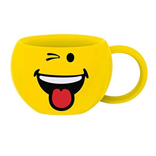 Zak Designs 6727-010 mug, céramique, Jaune, 8,5 x 9,5 x 6 cm