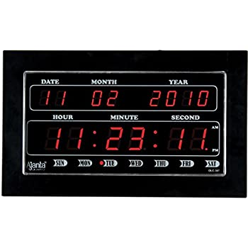 Buy Ajanta Quartz LED Clock OLC307 Online at Low Prices in India