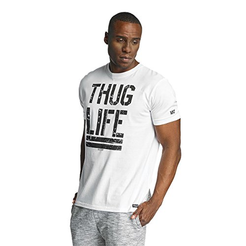 Thug Life Herren Oberteile / T-Shirt Ghost Weiß