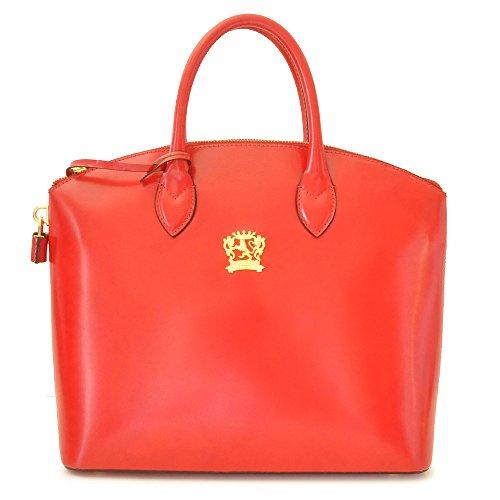 Pratesi Versilia italien fourre-tout en cuir sac à main, sac à bandoulière (rouge) rouge
