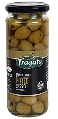 Fragata Spanish Olives Pitted Green 440g