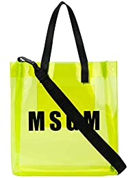 MSGM Borsa Shopping Donna 2441MDZ55010 Pvc Giallo 1a08a39d34f