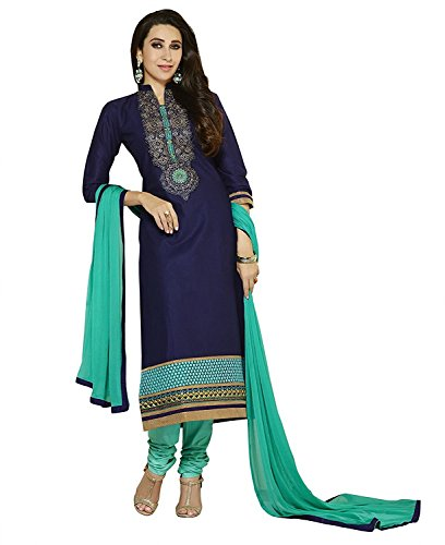 Shiroya Brothers Women's Printed Unstitched Regular Wear Salwar Suit Dress Material(SB_DM_nevyblue)  available at amazon for Rs.199