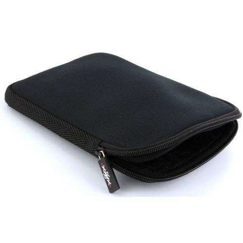XiRRiX eBook Reader Tasche aus Neopren mit Reißverschluss - Größe 6 Zoll (15,24cm) für Tolino eReader Modelle - Hülle in schwarz