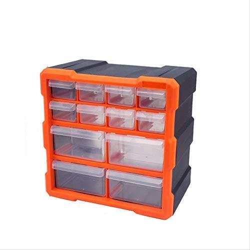 KWOSJYAL 12 Schubladen Teile Kabinett Bin Organizer Box Bins Handwerk Schraube Hardware Werkzeugkoffer Kunststoffteile Aufbewahrungsbox Kombinierte Typ Box Multi-Box Electronic Component Box