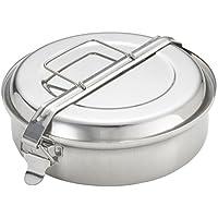 Ibili 720620 - Fiambrera con 2 platos Inox 20 cm