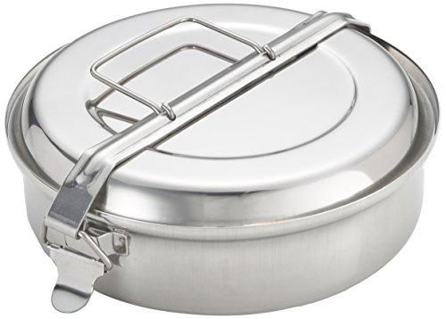 IBILI Camping Outdoor Geschirr, Lunch Box, Edelstahl, 20 cm Durchmesser, Fassungsvermögen: 1,8 Liter