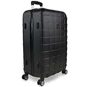 Hardshell Luggage Suitcase Lightweight Travel Baggage 3 Pieces 4 Wheeled Spinner Roller Black Silver Blue M L XL Trolley