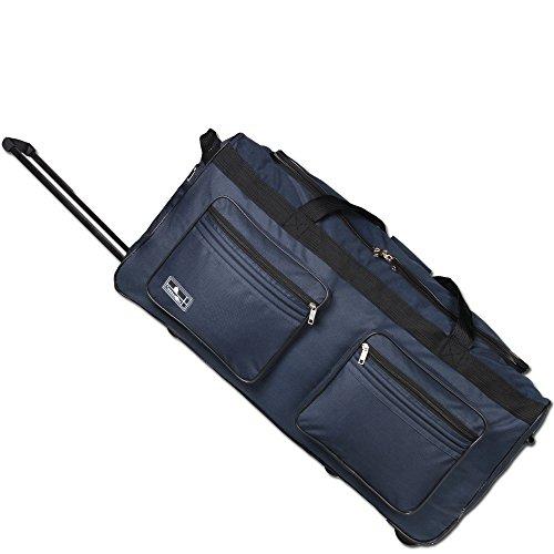 JEMIDI XXL Reisetasche 120L Sporttasche Trolley XXL Jumbo mit 2 Rollen Tasche Koffer (Navy) Navy