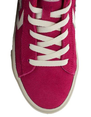 Converse - Converse Pro leather scarpe sneakers donna bambina alte hi Fuxia Fucsia/ Off White