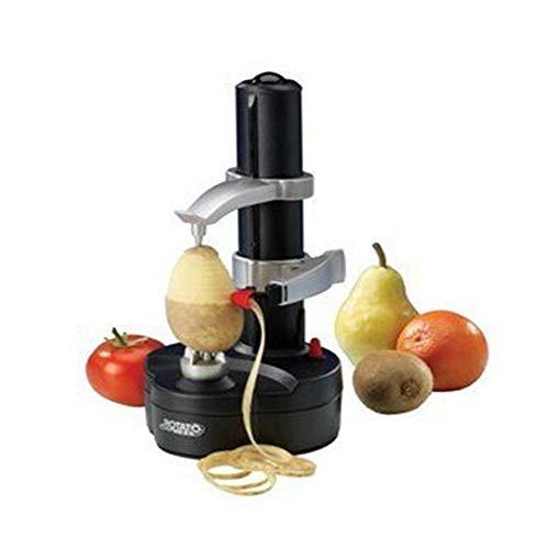 ZHYP 1 Stück Neue Elektrische Spirale Apple Peeler Cutter Slicer Obst Kartoffel Schälen Automatische Batteriebetriebene Maschine@Schwarz (Elektrische Baum-cutter)