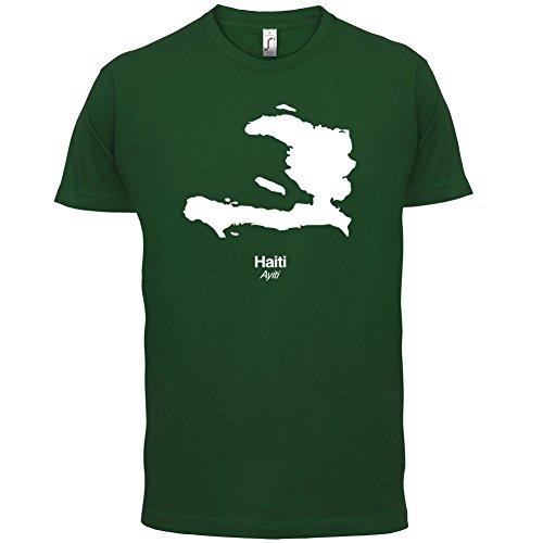 Haiti / Republik Haiti Silhouette - Herren T-Shirt - 13 Farben Flaschengrün
