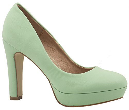 Elara Moderne Damen High Heels | Stiletto Schuhe | Plateau Pumps | Chunkyrayan E22321-Green-39 Stiletto Pumps Schuhe