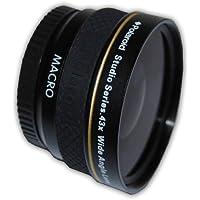 Polaroid Studio Series 43X High Definition Wide-Angle Lens Objectif large Noir - lentilles et filtres d'appareil photo (Objectif large, Noir, 3,7 cm, Boîte)