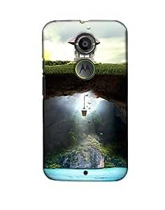 Pick Pattern Back Cover for Motorola Moto X (2nd Gen.) (MATTE)