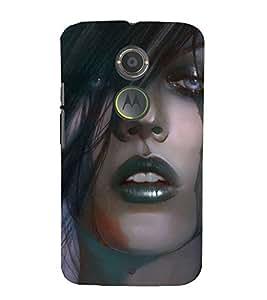 Crying Girl 3D Hard Polycarbonate Designer Back Case Cover for Motorola Moto X2 :: Motorola Moto X (2nd Gen) :: Motorola Moto X 2014 :: Motorola Moto X+1