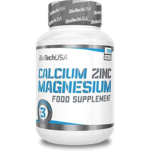 BioTech USA Calcium-Magnesium-Zinc 100 Tabletten, 1er Pack (1 x 180 g)