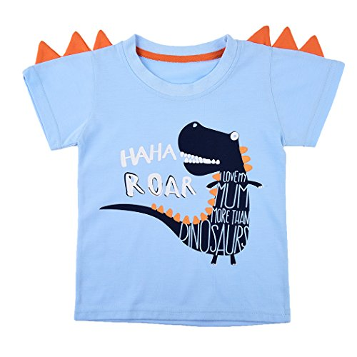 Tkria Jungen Kinder Sweatshirt Baby Baumwolle Pullover T-Shirt Top mit Dinosaurier / Krokodil 98 104 110 116 122 128 -