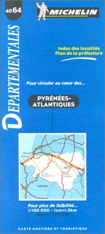 Carte routière : Pyrénées-Atlantiques, 4064, 1/150000