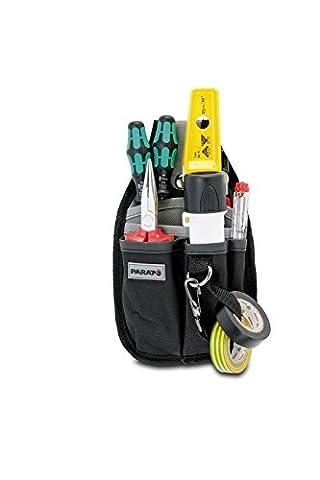PARAT 5990.816-999 Gürteltasche einfach, klein grau, schwarz (Ohne Inhalt) (Breite Werkzeugtasche)