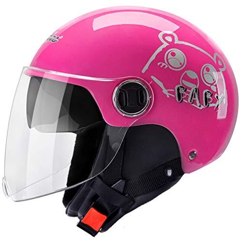 Casco moto Mezza faccia da uomo, Casco moto Sunproof doppia lente da donna, Casco da motocross invernale caldo, cappucci di sicurezza Four Seasons 56-62cm