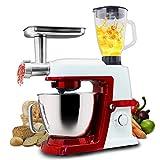 Küchenmaschine, Elektrische Küchenmaschine 3 In 1 Stand Mixer/Mixer / Fleischwolf, 1500W 6L