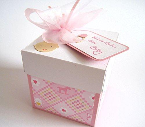 Geldgeschenk Geschenkschachtel zur Geburt Mädchen Baby